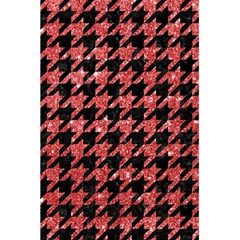 Houndstooth1 Black Marble & Red Glitter 5 5  X 8 5  Notebooks by trendistuff