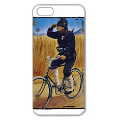 Policeman 1763380 1280 Apple Seamless Iphone 5 Case (clear) by vintage2030