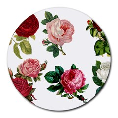Roses 1770165 1920 Round Mousepads by vintage2030