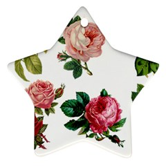 Roses 1770165 1920 Star Ornament (two Sides) by vintage2030