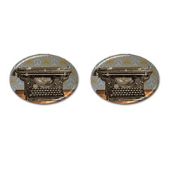 Typewriter Cufflinks (oval) by vintage2030