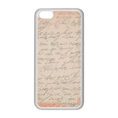 Letter Apple Iphone 5c Seamless Case (white) by vintage2030