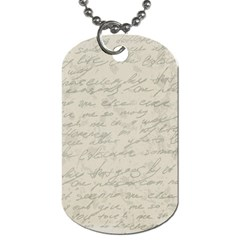 Handwritten Letter 2 Dog Tag (two Sides) by vintage2030