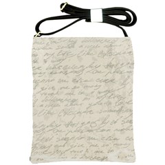 Handwritten Letter 2 Shoulder Sling Bags by vintage2030