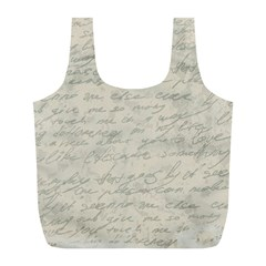 Handwritten Letter 2 Full Print Recycle Bags (l)  by vintage2030