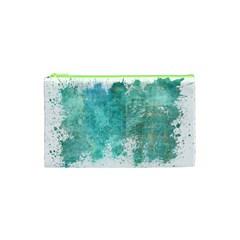 Splash Teal Cosmetic Bag (xs) by vintage2030