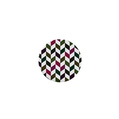 Zigzag Chevron Pattern Green Purple 1  Mini Magnets by vintage2030