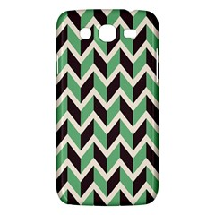 Zigzag Chevron Pattern Green Black Samsung Galaxy Mega 5 8 I9152 Hardshell Case  by vintage2030