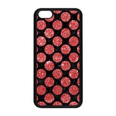 Circles2 Black Marble & Red Glitter (r) Apple Iphone 5c Seamless Case (black) by trendistuff