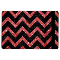Chevron9 Black Marble & Red Glitter (r) Ipad Air 2 Flip by trendistuff