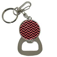 Chevron1 Black Marble & Red Glitter Button Necklaces by trendistuff