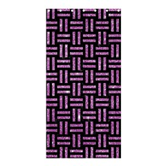 Woven1 Black Marble & Purple Glitter (r) Shower Curtain 36  X 72  (stall)  by trendistuff