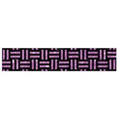 Woven1 Black Marble & Purple Glitter (r) Small Flano Scarf by trendistuff