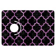 Tile1 Black Marble & Purple Glitter (r) Kindle Fire Hdx Flip 360 Case by trendistuff