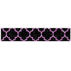 Tile1 Black Marble & Purple Glitter (r) Large Flano Scarf  by trendistuff