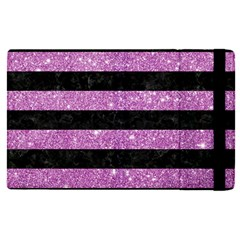 Stripes2black Marble & Purple Glitter Apple Ipad Pro 12 9   Flip Case by trendistuff