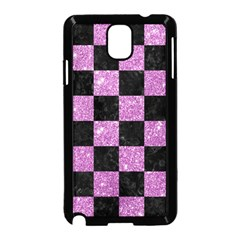 Square1 Black Marble & Purple Glitter Samsung Galaxy Note 3 Neo Hardshell Case (black) by trendistuff
