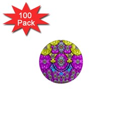 Fantasy Bloom In Spring Time Lively Colors 1  Mini Magnets (100 Pack)  by pepitasart