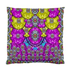 Fantasy Bloom In Spring Time Lively Colors Standard Cushion Case (two Sides) by pepitasart