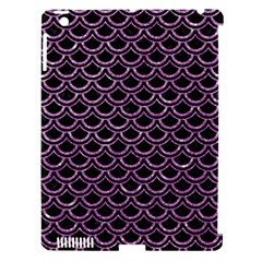 Scales2 Black Marble & Purple Glitter (r) Apple Ipad 3/4 Hardshell Case (compatible With Smart Cover) by trendistuff