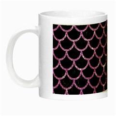Scales1 Black Marble & Purple Glitter (r) Night Luminous Mugs by trendistuff