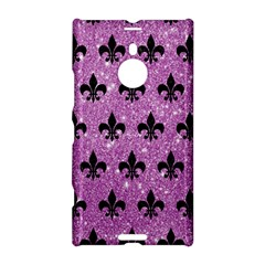 Royal1 Black Marble & Purple Glitter (r) Nokia Lumia 1520 by trendistuff