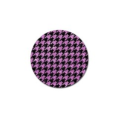 Houndstooth1 Black Marble & Purple Glitter Golf Ball Marker (4 Pack) by trendistuff