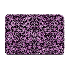 Damask2 Black Marble & Purple Glitter Plate Mats by trendistuff