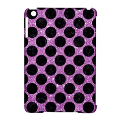 Circles2 Black Marble & Purple Glitter Apple Ipad Mini Hardshell Case (compatible With Smart Cover) by trendistuff