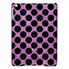 Circles2 Black Marble & Purple Glitter Ipad Air Hardshell Cases by trendistuff