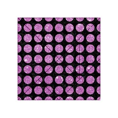Circles1 Black Marble & Purple Glitter (r) Acrylic Tangram Puzzle (4  X 4 ) by trendistuff