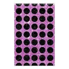 Circles1 Black Marble & Purple Glitter Shower Curtain 48  X 72  (small)  by trendistuff