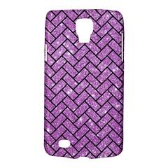 Brick2 Black Marble & Purple Glitter Galaxy S4 Active by trendistuff