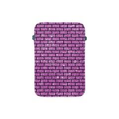 Brick1 Black Marble & Purple Glitter Apple Ipad Mini Protective Soft Cases by trendistuff