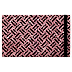 Woven2 Black Marble & Pink Glitter Apple Ipad Pro 9 7   Flip Case by trendistuff