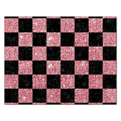 Square1 Black Marble & Pink Glitter Rectangular Jigsaw Puzzl by trendistuff