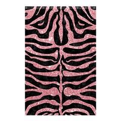Skin2 Black Marble & Pink Glitter (r) Shower Curtain 48  X 72  (small)  by trendistuff