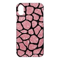 Skin1 Black Marble & Pink Glitter (r) Apple Iphone X Hardshell Case by trendistuff