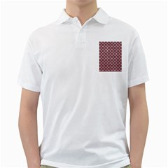 Scales2 Black Marble & Pink Glitter Golf Shirts by trendistuff