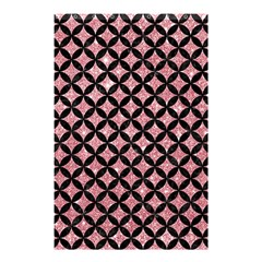 Circles3 Black Marble & Pink Glitter Shower Curtain 48  X 72  (small)  by trendistuff
