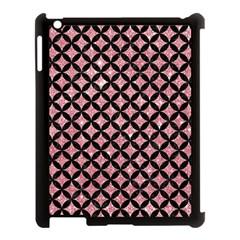 Circles3 Black Marble & Pink Glitter Apple Ipad 3/4 Case (black) by trendistuff
