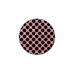 Circles2 Black Marble & Pink Glitter Golf Ball Marker by trendistuff