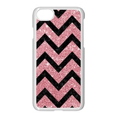 Chevron9 Black Marble & Pink Glitter Apple Iphone 7 Seamless Case (white) by trendistuff