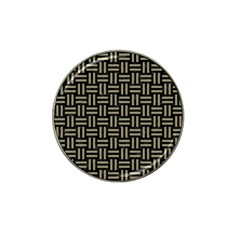 Woven1 Black Marble & Khaki Fabric (r) Hat Clip Ball Marker (10 Pack) by trendistuff
