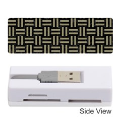 Woven1 Black Marble & Khaki Fabric (r) Memory Card Reader (stick)  by trendistuff