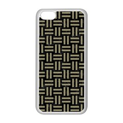 Woven1 Black Marble & Khaki Fabric (r) Apple Iphone 5c Seamless Case (white) by trendistuff