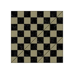 Square1 Black Marble & Khaki Fabric Acrylic Tangram Puzzle (4  X 4 ) by trendistuff
