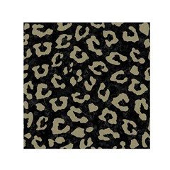 Skin5 Black Marble & Khaki Fabric Small Satin Scarf (square) by trendistuff