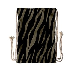 Skin3 Black Marble & Khaki Fabric (r) Drawstring Bag (small) by trendistuff