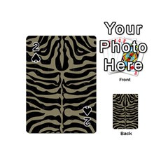Skin2 Black Marble & Khaki Fabric (r) Playing Cards 54 (mini)  by trendistuff
